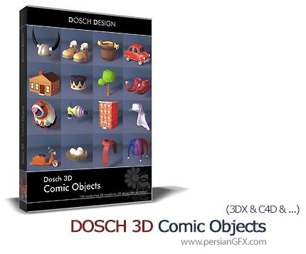 دانلود مدل های سه بعدی اشیاء کارتونی کمیک - DOSCH 3D Comic Objects