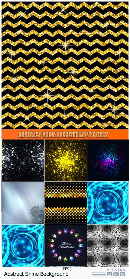 دانلود تصاویر وکتور پس زمینه های انتزاعی درخشان - Abstract Shine Background