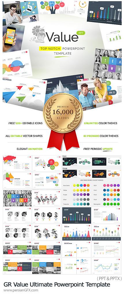 دانلود مجموعه قالب آماده تجاری پاورپوینت - GraphicRiver Value Ultimate Powerpoint Template