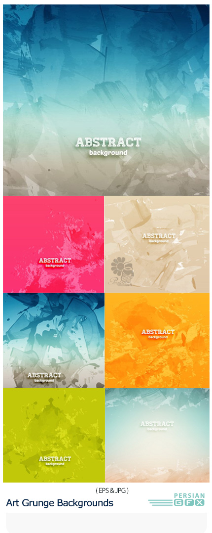 دانلود تصاویر وکتور پس زمینه های هنری گرانج - Art Grunge Backgrounds
