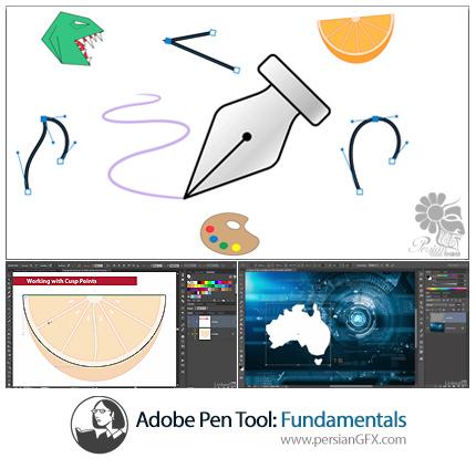 دانلود آموزش مقدماتی کار با ابزار Pen در نرم افزار های ادوبی فتوشاپ و ایلوستریتور از لیندا - Lynda Adobe Pen Tool: Fundamentals