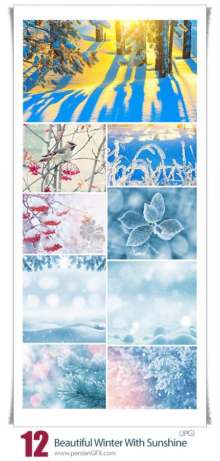 دانلود تصاویر با کیفیت زمستان برفی زیبا با آفتاب - Beautiful Winter With Sunshine