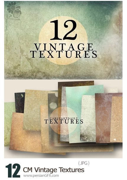 دانلود 12 تکسچر قدیمی متنوع - CM Vintage Textures