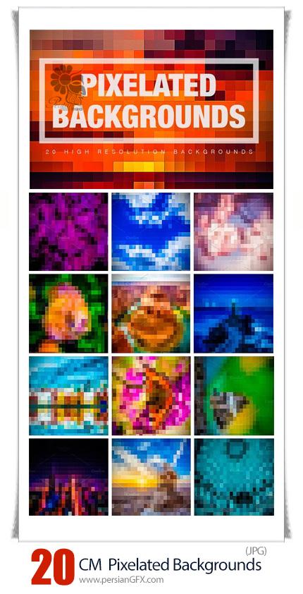 دانلود 20 تصویر با کیفیت پس زمینه پیکسلی - CM 20 Pixelated Backgrounds