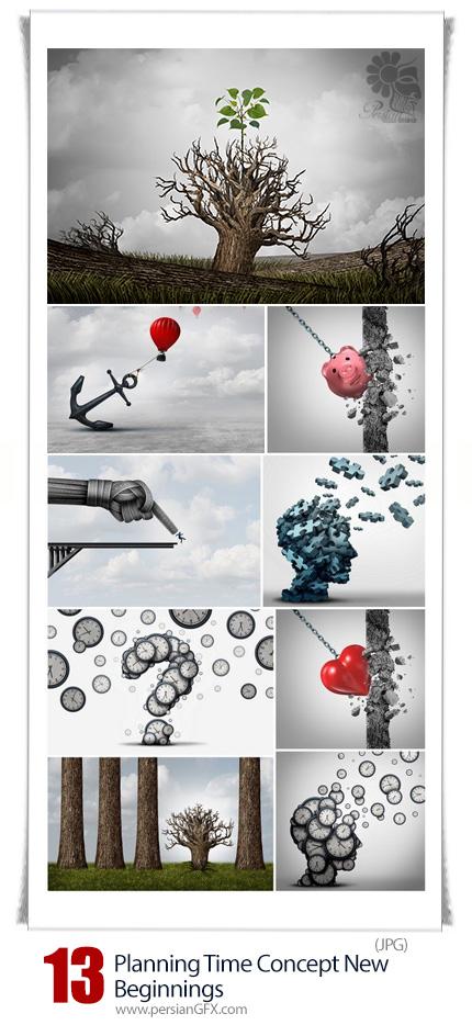 دانلود تصاویر با کیفیت مفهومی زمان برنامه ریزی و شروع جدید - Planning Time Concept New Beginnings