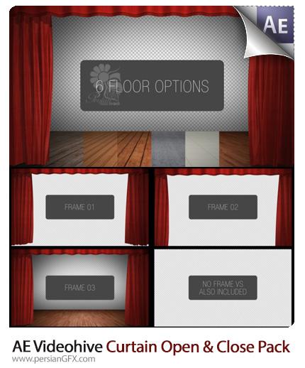 دانلود پروژه آماده افترافکت صحنه آماده تئاتر با پرده باز و بسته شو از ویدئوهایو - Videohive Curtain Open And Close Pack After Effects Template