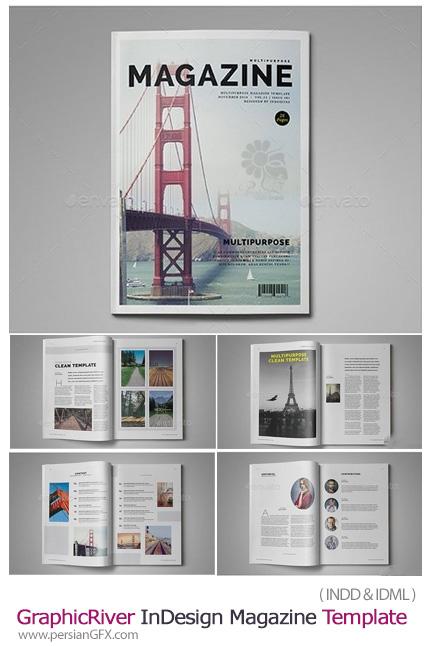 دانلود مجله آماده 26 صفحه ای با فرمت ایندیزاین از گرافیک ریور - GraphicRiver InDesign Magazine Template 26 page