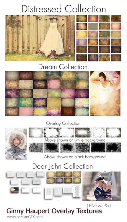 دانلود مجموعه تکسچر با کیفیت قدیمی، رویایی، متن - Ginny Haupert Overlay Textures