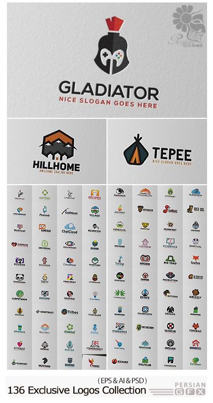 دانلود 136 تصویر لایه باز و وکتور آرم و لوگوی متنوع - 136 Exclusive Logos Collection