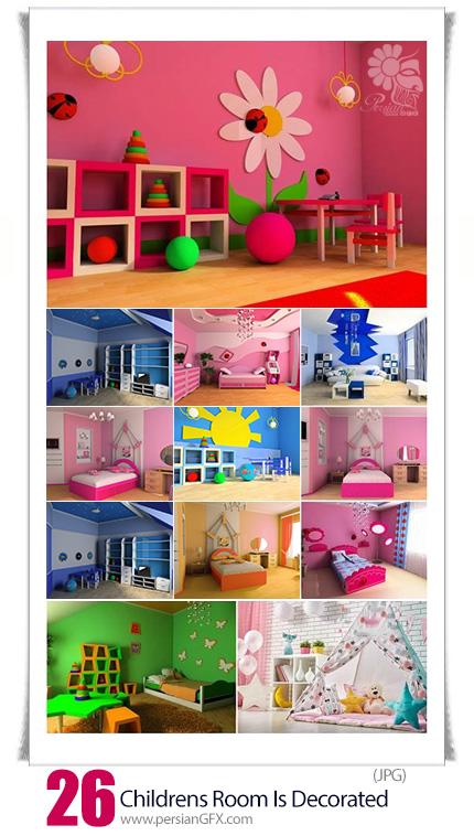 دانلود تصاویر با کیفیت طراحی داخلی اتاق کودکان - Childrens Room Is Decorated
