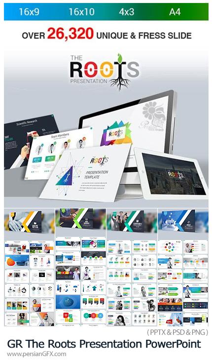 دانلود مجموعه قالب آماده تجاری پاورپوینت از گرافیک ریور - GraphicRiver The Roots Presentation PowerPoint Templates