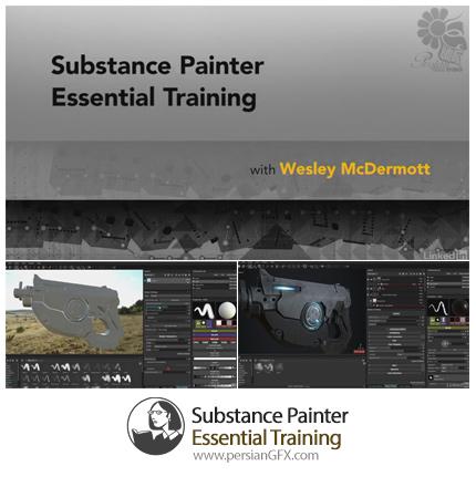 دانلود آموزش نقاشی سه بعدی با نرم افزار ساب استنس پینتر از لیندا - Lynda Substance Painter Essential Training