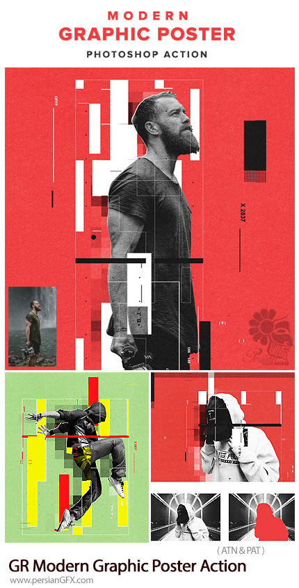 دانلود اکشن فتوشاپ تبدیل تصاویر به پوستر گرافیکی مدرن از گرافیک ریور - Graphicriver Modern Graphic Poster Action