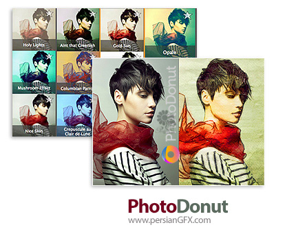 دانلود نرم افزار تبدیل به عکس به سبک های مختلف نقاشی - PhotoDonut Pro v1.2.10901