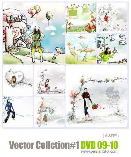 دانلود مجموعه عظیم تصاویر وکتور - بخش اول - دی وی دی 9 و 10 - Vector Collection # 1 DVD 9 - 10