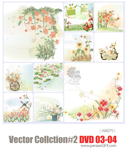 دانلود مجموعه عظیم تصاویر وکتور - بخش دوم - دی وی دی 3 و 4 - Vector Collection # 2 DVD 3 - 4