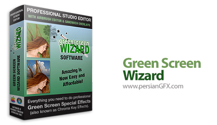 دانلود نرم افزار جایگزینی پرده ی سبز به جای تصاویر دیگر و ویرایشگر عکس - Green Screen Wizard Professional v9.6