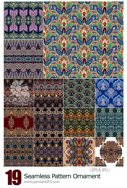 دانلود تصاویر وکتور پترن با طرح های سنتی تزئینی - Seamless Pattern Ornament