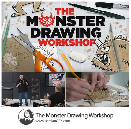 دانلود آموزش طراحی هیولا در ایلوستریتور از لیندا - Lynda The Monster Drawing Workshop