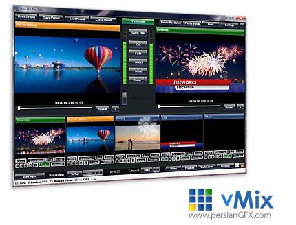 دانلود نرم افزار میکس و مونتاژ فیلم های ویدئویی HD و 4K - vMix Pro v19.0.0.42