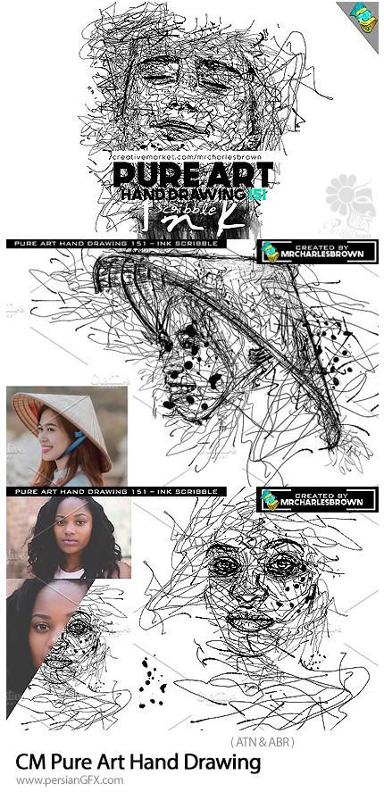 دانلود اکشن فتوشاپ تبدیل تصاویر به نقاشی دستی خط خطی به همراه آموزش ویدئویی - CM Pure Art Hand Drawing