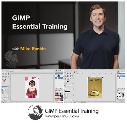 دانلود آموزش گیمپ، نرم افزار ویرایش عکس و رتوش چهره از لیندا - Lynda GIMP Essential Training