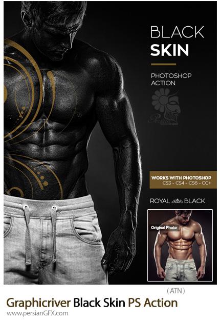 دانلود اکشن فتوشاپ ساخت پوست سیاه از گرافیک ریور - Graphicriver Black Skin Photoshop Action