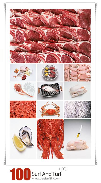 دانلود مجموعه تصاویر با کیفیت گوشت، مرغ، ماهی و ... - Image Source Surf And Turf