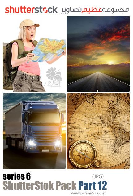 دانلود مجموعه عظیم تصاویر شاتر استوک - سری ششم - بخش دوازدهم: نقشه، جاده، سفر و حمل و نقل