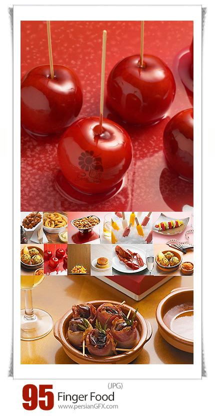 دانلود مجموعه تصاویر با کیفیت غذاهای متنوع، فینگر فود، غذای دریایی، فست فود، دسر و ... - Image Source Finger Food