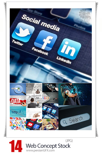 دانلود تصاویر با کیفیت مفهومی وب، رسانه های اجتماعی، سئو، جستجو در وب و ... - Web Concept Stock