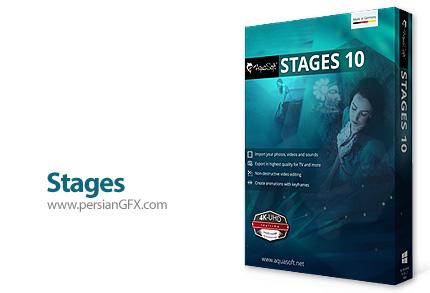 دانلود نرم افزار ساخت و ویرایش انواع پروژه های ویدئویی، صوتی و تصویری - AquaSoft Stages v10.5.11 x86/x64