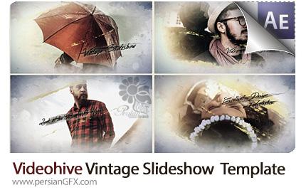 دانلود پروژه آماده افترافکت اسلایدشو تصاویر با افکت قدیمی به همراه آموزش ویدئویی از ویدئوهایو - Videohive Vintage Slideshow After Effects Template