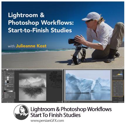 دانلود آموزش گردش کار در لایتروم و فتوشاپ از لیندا - Lynda Lightroom And Photoshop Workflows Start To Finish Studies