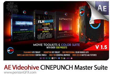 دانلود مجموعه افکت های ویدئویی و رنگی متنوع افترافکت به همراه آموزش ویدئویی از ویدئوهایو - Videohive CINEPUNCH Master Suite After Effects Preset