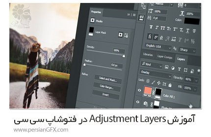 دانلود آموزش Adjustment Layers در فتوشاپ سی سی از Pluralsight - Pluralsight Photoshop CC Adjustment Layers
