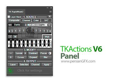 دانلود پلاگین ساخت ماسک های ویژه در فتوشاپ - TKActions V6 Panel for Adobe Photoshop