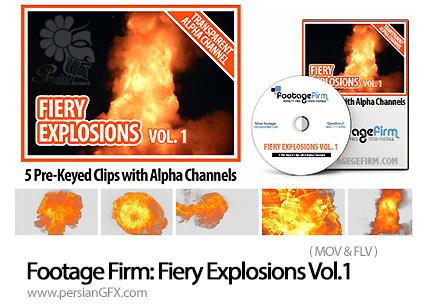 دانلود مجموعه افکت های ویدئویی انفجار از FootageFirm - Footage Firm: Fiery Explosions Vol.1