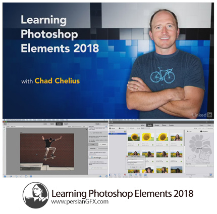 دانلود آموزش نرم افزار فتوشاپ المنت 2018 از لیندا - Lynda Learning Photoshop Elements 2018
