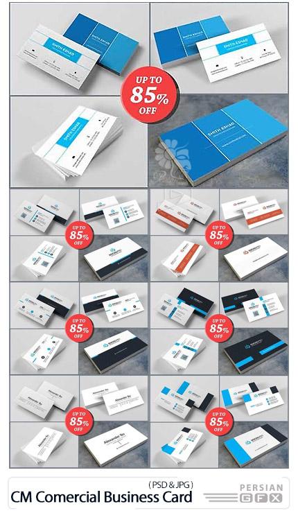 دانلود 10 قالب لایه باز کارت ویزیت های تجاری دورو - CreativeMarket Tarjeta Comercial Business Card