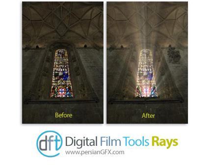 دانلود پلاگین نمایش اشعه ها و پرتو های نور درتصاویر - Digital Film Tools Rays v2.1.2.2 x64