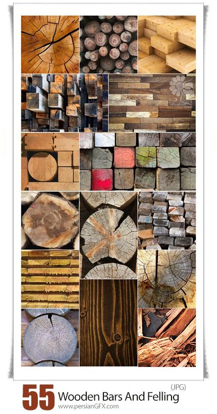 دانلود 55 تصویر با کیفیت چوب، تنه درخت، کفپوش چوبی و قطعات چوبی - Wooden Bars And Felling