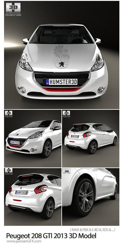 دانلود مدل آماده سه بعدی پژو 208 - Peugeot 208 GTI 2013 3D Model