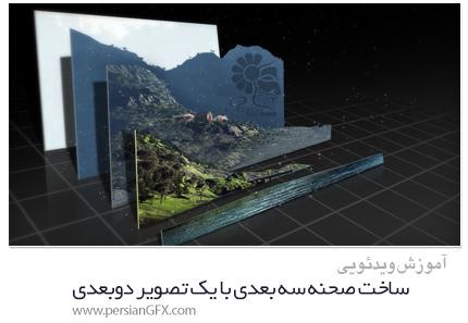 دانلود آموزش ساخت صحنه سه بعدی با یک تصویر دوبعدی در افترافکت - Pluralsight Creating A 3D Scene With A 2D Image In After Effects