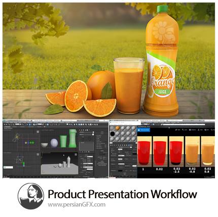 دانلود آموزش فرآیند طراحی یک محصول در فتوشاپ، تریدی مکس و ویری از لیندا - Lynda Product Presentation Workflow