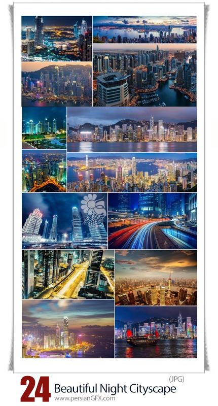 دانلود تصاویر با کیفیت شهرهای زیبای جهان در شب، دبی، هونگ کونگ و شانگهای - Beautiful Night Shanghai HongKong And Dubai