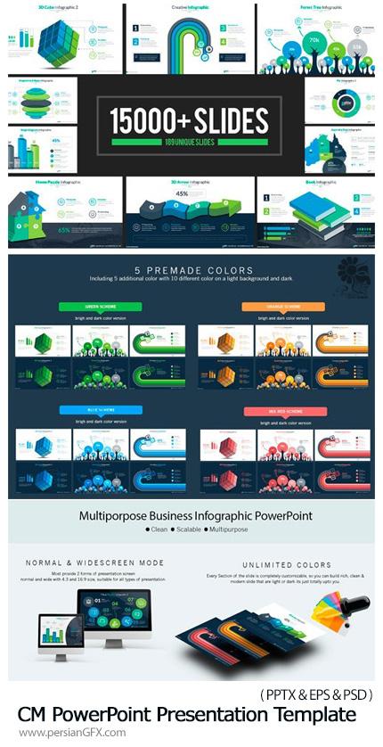 دانلود قالب آماده تجاری پاورپوینت - CM PowerPoint Presentation Template