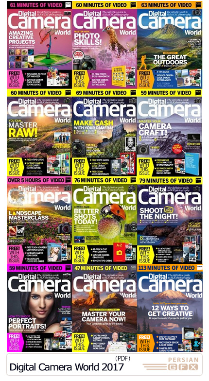دانلود مجموعه مجلات عکاسی - Digital Camera World 2017 Full Year Issues Collection