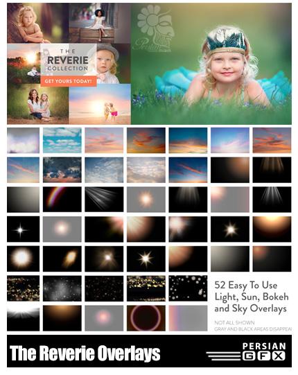 دانلود 52 تصویر کلیپ آرت بوکه، آسمان و افکت های نورانی متنوع - Paint The Moon The Reverie Overlays