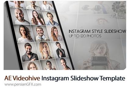 دانلود پروژه آماده افترافکت اسلایدشو تصاویر در قالب صفحه اینستاگرام از ویدئوهایو - Videohive Instagram Slideshow After Effects Template
